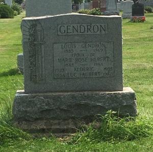 Headstone: FAUBERT  | Cimetière de la Paroisse Saint-Clément, Beauharnois  | Quebec Cemeteries