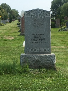 Headstone: DUBOIS  | Cimetière de la Paroisse Saint-Clément, Beauharnois  | Quebec Cemeteries