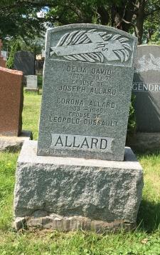 Headstone: ALLARD  | Cimetière de la Paroisse Saint-Clément, Beauharnois  | Quebec Cemeteries