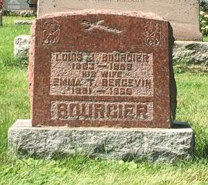 Headstone: BERGEVIN | Cimetière de la Paroisse Saint-Clément, Beauharnois  | Quebec Cemeteries