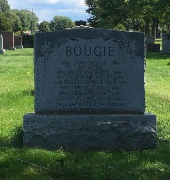 Headstone: AUBREY  | Cimetière de la Paroisse Saint-Clément, Beauharnois  | Quebec Cemeteries