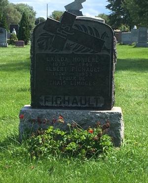 Headstone: MONIERE  | Cimetière de la Paroisse Saint-Clément, Beauharnois  | Quebec Cemeteries