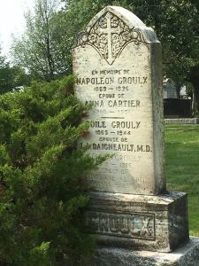 Headstone:  GROULX  | Cimetière de la Paroisse Saint-Clément, Beauharnois  | Quebec Cemeteries
