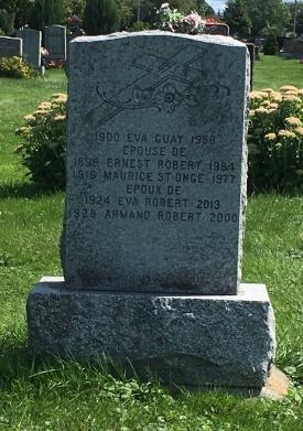Headstone: ROERT | Cimetière de la Paroisse Saint-Clément, Beauharnois  | Quebec Cemeteries