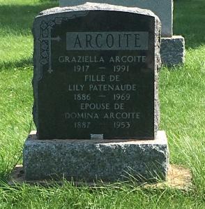 Headstone: ARCOITE  | Cimetière de la Paroisse Saint-Clément, Beauharnois  | Quebec Cemeteries