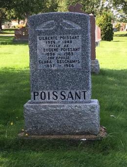 Headstone: POISSANT    Cimetière de la Paroisse Saint-Clément, Beauharnois    Quebec Cemeteries