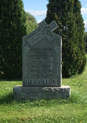 Headstone: CARDINAL  | Cimetière de la Paroisse Saint-Clément, Beauharnois  | Quebec Cemeteries