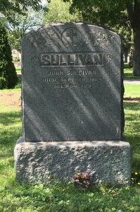 Headstone: SULLIVAN  | Cimetière de la Paroisse Saint-Clément, Beauharnois  | Quebec Cemeteries