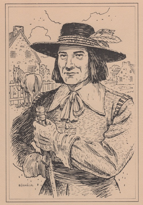 Andre Jarret, sieur de Beauregard was a gentleman and arrived in New France with the Carignan regiment. He settled on his brother's seignuerie of Vercheres. He and Marguerite Anthiaume were married on January 12th, 1676.