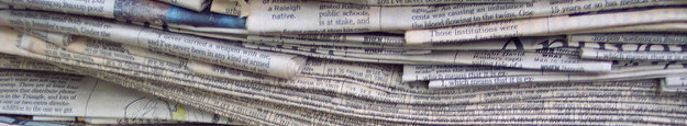 newspapers in a stack b