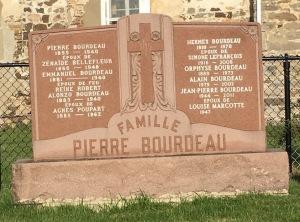 Bourdeau Headstone