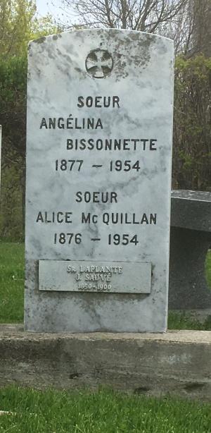 Bissonnette, Laplante, McQuillan | Cimetière des Soeurs Grises (Grey Nuns / Sisters of Charity)