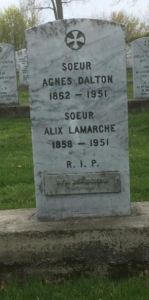 Dalton, Desrochers, Lamarche,   Cimetière des Soeurs Grises (Grey Nuns / Sisters of Charity)