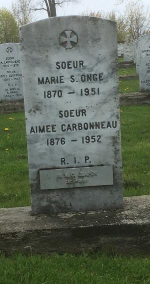 Clappin, St. Onge | Cimetière des Soeurs Grises (Grey Nuns / Sisters of Charity)