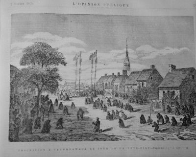 Caughnawaga Kahnawake | 1870s Religious procession | Mohawk | First Nations Quebec